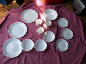 Set of three corell dishes. $5.00.