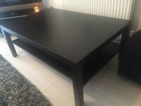 Large IKEA coffee table with underneath shelf