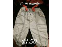 Girls 12 to 18 months trousers