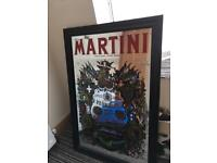 Martini bar pub vintage mirror