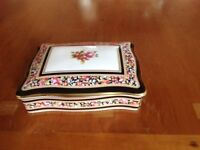 Playing cards and box in Wedgwood Clio pattern