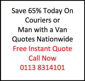 Man with a Van or Courier Sheffield - Discount Prices Save 65% on your next delivery