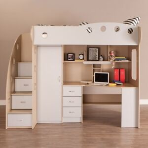 NIKA Loft Bed (Maple + Grey) (2 for $500)