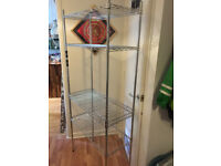 Chrome Plated 5 tier wire steel shelving unit