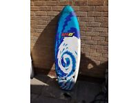 Polystyrene Surfboard with fins and ankle strap