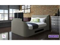 "King Size 42"" surround system tv bed"