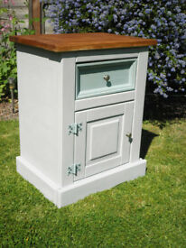 Shabby Chic Corona pine bedside cabinet