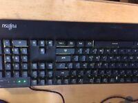 Iphone dock + mechanical-like keyboard