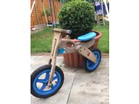 Kid Balance Bike - Wooden, Sturdy and adjustable height