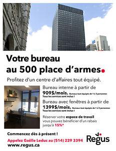 Promotion Regus Place d'Armes 15%  disponible