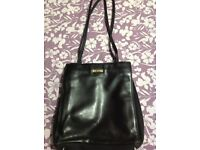 'Tula' Black Leather Hand/Shoulder Bag
