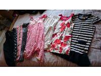 Girls clothes bundle 8 items. Age 7-9. Dresses x4, leggings x3, tracksuit bottoms x1.