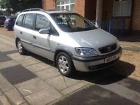 HURRY UP**VAUXHALL ZAFIRA 7 SEATER..10 MONTH MOT..CHEAP INSURANCE VERY RELIABLE..NOT FORD GALAXY VE