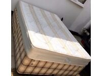 MYERS DOUBLE DIVAN BED AND DOUBLE MATTRESS - QUICK SALE - £45
