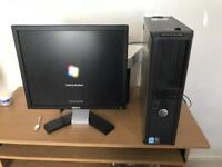 Dell refurbished pc optiplex gx620 2gb with monitor and free desk
