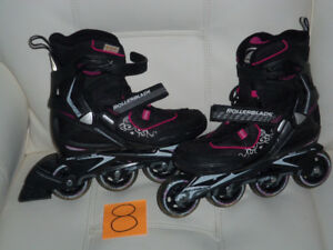 Patins a roues alignés roller blade impeccable comme neuf (8)
