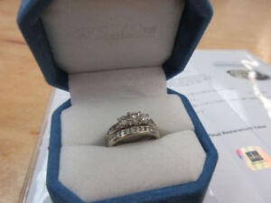 **2,815.00 VALUE** 10k & 14k White Gold Diamond Engagement Set