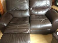 Recliner 2 seater sofas x2