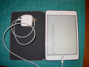 APPLE iPAD MINI 4, 64GB LATEST MODEL. CASE AND CHARGER INCL $450