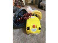 Speedy air pump for caravan arwning / boat / airbed.