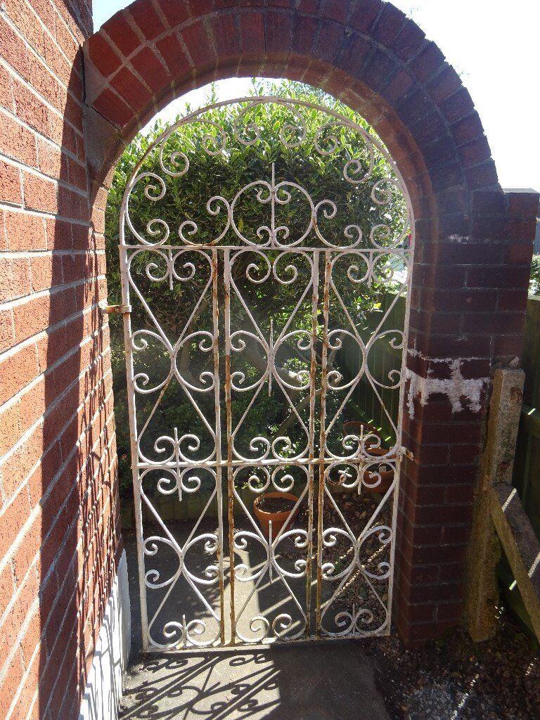 2 wrought iron gates