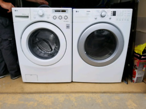 LG washer and dryer.
