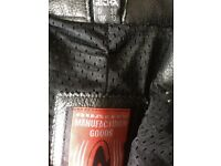 RICHA LADIES LEATHER AND TEXTILE MIX MOTORCYCLE JEANS SIZE 10