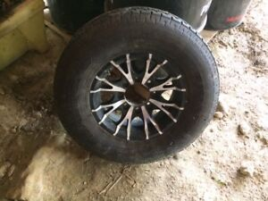 Spare tire for trailer on rim 16""