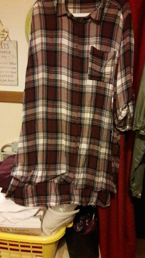 Plus size 26 long shirt dress