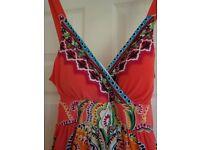 Ladies Summer Maxi Dress Size L (Size 12-14)