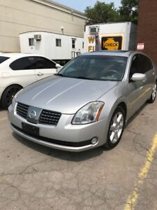 2004 NISSAN MAXIMA LEATHER, LOADED, ONLY 93,000KM $6995 CERT