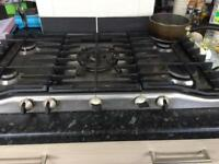 Zanussi gas hob with wok feature.