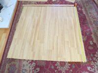 Light oak laminate flooring