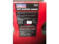 Brand new Sealey shot blasting cabinet and grit