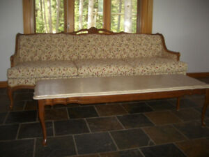 Vintage Couch and Matching Coffee Table