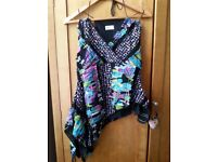 Beautiful women's handmade top by Yes Orange Boutique Sheffield Size 14/16