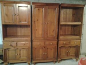 NB Handcrafted Solid Pine Cabinets - Butternut Finish