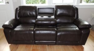 Genuine Leather reclining sofa & rocker recliner