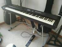 Roland RD700 NX with foldable Roland stage stand