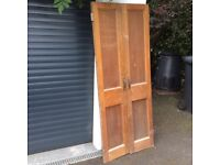 Pair solid oak cupboard doors