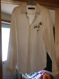 Moschino men's shirt white size small