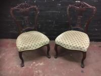 Two fabulous Edwardian style bedroom Chairs in pristine condition.