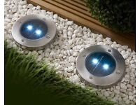 Set of 2 Solar Garden Spotlights (NEW)