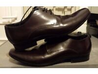 Kurt Geiger Gents smart casual shoes Lace Up brown Brogues made in italy size 8
