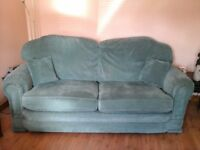 3 piece suite - green stain resistant fabric