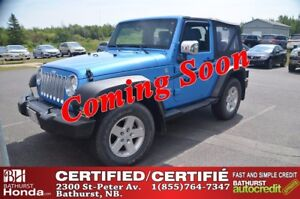 2010 Jeep Wrangler SPORT 4X4! Convertible with Removable Hardtop