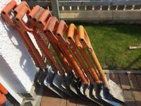 12No Insulated Shovels and 1No Fibreglass Pick For Sale