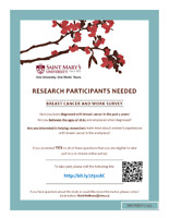 Seeking Participants for Survey on Breast Cancer & Work