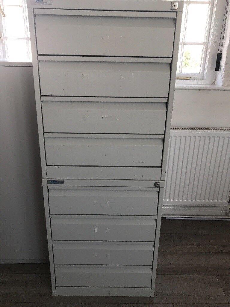 2 Metal Storage Drawers