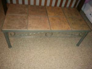 Ceramic tile coffee table